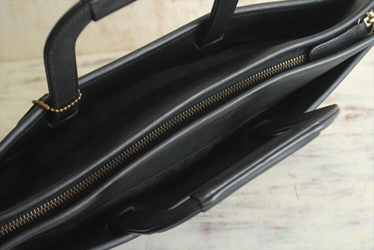 訳あり USA製 COACH コーチ 本革レザー ブリーフケース ビジネスバッグ ブラック 黒色 メンズ オールドコーチ