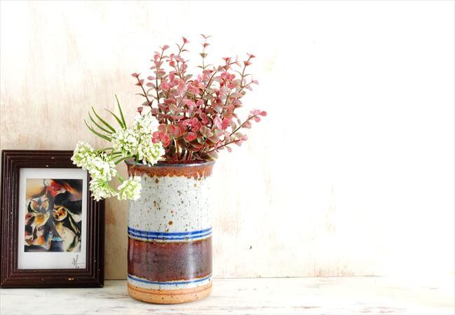 デンマーク製 HELLE ALLPASS 陶器 花瓶 ヘレ・アルパス 花器 現代美術 北欧アンティーク