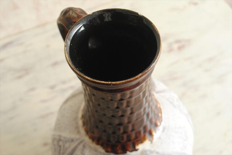 西ドイツ製 ヴィンテージ Bay Keramik 大きめ 陶器の花瓶 花器 一輪挿し ミッドセンチュリー期 フラワーベース アンティーク