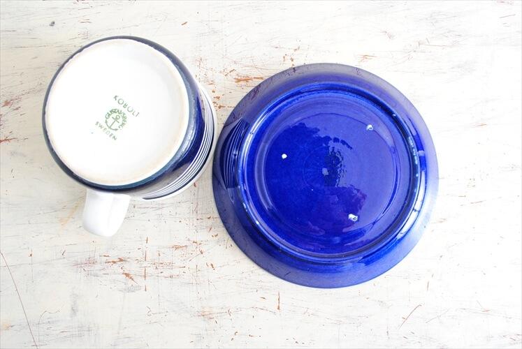 訳あり グスタフスベリ KOBOLT コーヒーカップ&ソーサー GUSTAVSBERG コバルト スウェーデン 北欧食器 磁器 アンティーク