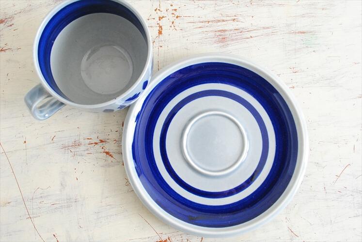 ベルギー製 BOCH ボッホ BALTIC コーヒーカップ&ソーサー バルティック 磁器 陶器 アンティーク 食器