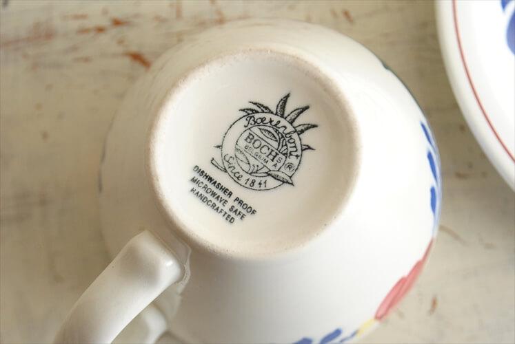 ベルギー製 BOCH ボッホ BOERENBONT コーヒーカップ&ソーサー ベルナデッタ 磁器 アンティーク