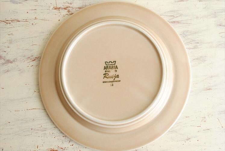 ARABIA アラビア Ruija 20cm プレート ルイージャ お皿 ブラウン 北欧食器 フィンランド 北欧 ヴィンテージ アンティーク