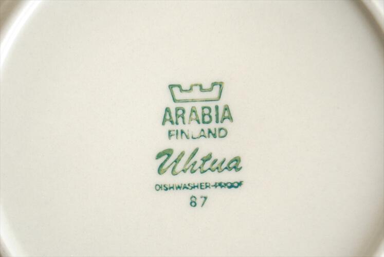 ARABIA アラビア Uhtua 17cm プレート ウートゥア デザート ケーキプレート 北欧食器 フィンランド ヴィンテージ アンティーク